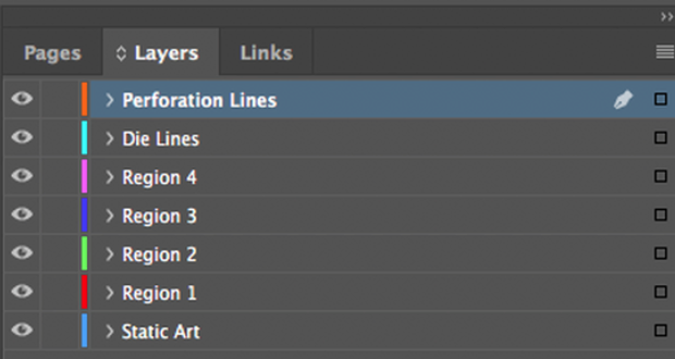 adobe program layers panel